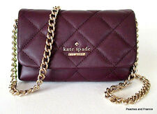 "KATE SPADE EMERSON PLACE EMI QUILTED LEATHER CROSSBODY ""MULLED WINE"" ~ NWT!"