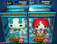 YO-KAI WATCH - figures JIBANYAN KOMASAN Lot of 2 anime Season 1 glow in the dark