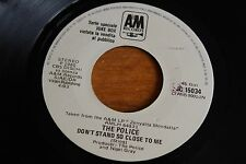 """The Police / 7"""" Italy JUKEBOX PROMO / Don't Stand So Close / Barbara Streisand"""