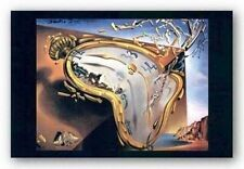 ART PRINT Melting Clock at Moment of First Explosion Salvador Dali