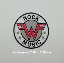 Weezer Patch Sew On Iron Embroidered Free Shipping Music Rock Band Heavy Metal