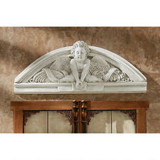 CELESTIAL CLASSIC GUARDIAN ANGEL CHERUB WALL SCULPTURE HOME DECOR NEW