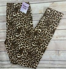 Cheetah Leopard Print Leggings Animal Print Brown Soft ONE Size OS