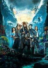 Pirates of the Caribbean Dead Men Tell No Tales Movie Poster (24x36) - Depp v4