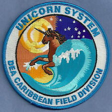 DEA CARIBBEAN FIELD DIVISION POLICE PATCH UNICORN