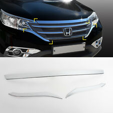 Chrome Bonnet Guard Molding Trim Garnish 3p 1Set For 2012-2016 Honda CR-V