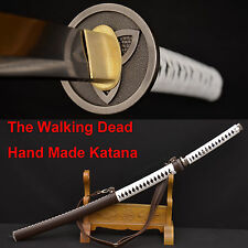 The Walking Dead Sword-Michonne's Katana Zombie Killer DAMASCUS FoldedSteelBlade