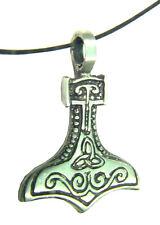 BUTW-  Thor's hammer Mjöllnir pewter pendant 1851B