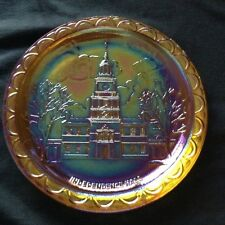 Vintage Carnival Glass Plate Independence Hall