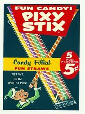 PIXY STIX Fun Candy   Retro Vintage HQ  Fridge Magnet *02