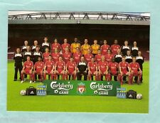 LIVERPOOL 2007/08  SOCCER FOOTBALL POSTCARD - TEAM PICTURE