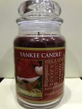 Yankee Candle Santa's Pipe 22oz Large Jar - Rare USA - Christmas - Deerfield