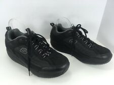 Men's Skechers Shape-Ups Black leather Sz 10 M Excellent EUC