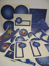 Cardmaking Pk Christmas Snowflake 234pc Cards Die Cut Toppers Wrapping AM87