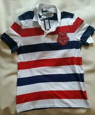 Love Moschino Striped Polo Shirt Milano Couture Logo Short Sleeves Rugby Large