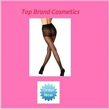 Pretty Legs 10 Denier Black High Sheen Nylon Tights Size Medium-Large NEW Boxed