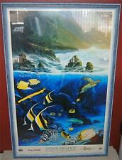 DOUBLE SIGNED WYLAND OCEAN TRILOGY LITHOGRAPH PRINT LARGE 27 INCHES SS