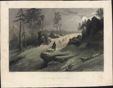 1845 Choor Antique Print Hunting party in the Choor Mountain, Nahl Dehra, India