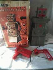 RARE 1950's VINTAGE IDEAL TOYS ROBERT THE ROBOT WITH ORIGINAL BOX - FOR REPAIR