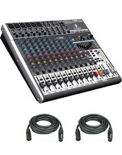 Behringer XENYX X2222USB 22-Input USB Audio Mixer with Effects & 2 XLR Cables