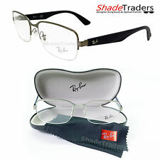 RAY BAN SEMI-RIMLESS UNISEX OPTICAL GLASSES FRAME GUNMETAL DARK BLUE RX6311 2620