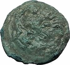 RHEGION in BRUTTIUM 415BC Apollo Lion Mask Authentic Ancient Greek Coin i58824