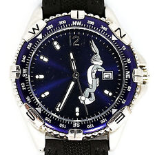 Bugs Bunny, Date Fossil Warner Bros. Easy Read Diver Style, Stainless Watch $129