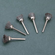 10pc 15mm Wire Stainle Steel Cup Brushes Wheel Dremel Accessory for Rotary Tools