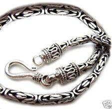 Silver Byzantine Bali Chain Sterling Silver 925 Best Price Jewelry 24 inches