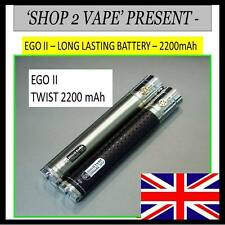 Shisha  2200mah Battery Hookah VV vapouriser Black , Silver Re-chargable + USB