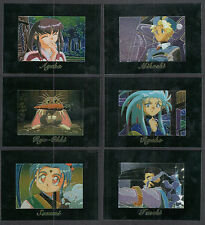 TENCHI MUYO (Comic Images/2000) Complete MAGNACHROME CHASE CARD SET of 6 ANIME