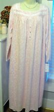 NWT XL PINK Eileen West FLEECE Nightgown Gown NEW WARMER than Flannel $70
