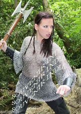 BUTTED Chainmail shirt SMALL ~ LIGHT WEIGHT ALUMINUM MEDIEVAL FEMALE LOOKS
