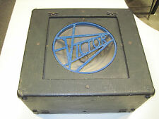 Victor Vintage Antique Art Deco Speaker Box / Cabinet Carry Case