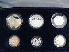 2007 ROYAL MINT SILVER PROOF 6 COIN FAMILY YEAR SET WITH £2 BRITANNIA BOX + COA