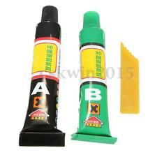 A+B Epoxy Clear Glue Adhesive 10g + Spatula Strong Ceramic Glass Rubber Metal