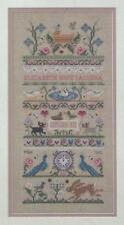 JUST NAN BABY CELEBRATION BIRTH SAMPLER CROSS STITCH CHART AND EMBELLISHMENTS
