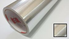 Silver Carbon Fiber Wrap Vinyl Film Overlay Decal 3M Sheet Craft & Cutting 24""