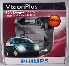 Genuine Philips Vision Plus 50ft Brighter HB2 9003 H4 VPS2 Halogen Bulbs NEW