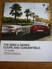 BMW 6  SERIES COUPE AND CONVERTIBLE SALES BROCHURE JULY 2013 FOR 2014 MODEL YEAR