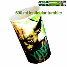 Star Wars Yoda Lenticular Cup Large 600 ml Cup Plastic Movie Jedi Collectable
