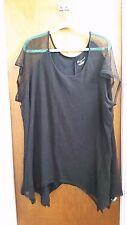 LANE BRYANT Black net color top blouse shirt plus size  22/24