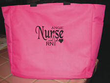 NURSE TOTE Bag RN LPN CNA MA MEDICAL OFFICE gift PERSONALIZED EMBROIDERED