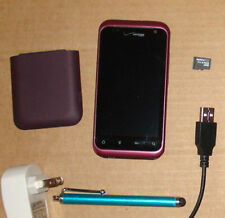 HTC RHYME PURPLE VERIZON FREE 8GB SMARTPHONE GPS WIFI STRAIGHT TALK PAGE PLUS