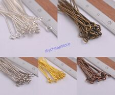 100Pcs Silver Plated Ball Head Eye Pins Jewelry Findings 21Gauge