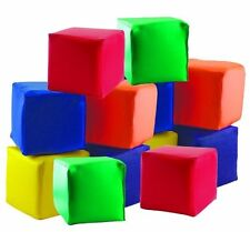 Kids Cushion Foam Cubes Sorter Learning Building Color Toddler Block Set Toy NEW