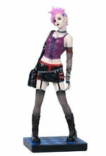 "9.75"" Punk Girl Walking in Skirt Sexy Gothic Female Statue Figure Figurine"