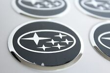 NEW 4pcs Decal Alu Stickers for Wheel Centre Cap Hubs for SUBARU - 60mm