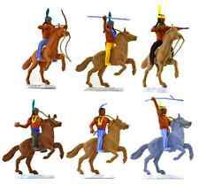 Timpo Mounted American Indians  - 6  figures in 6 poses