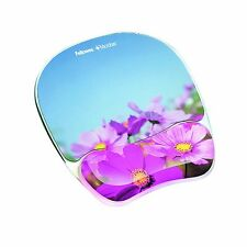 Fellowes 9179001 Photo Gel Mouse Pad Wrist Rest with Microban Protection - Pink